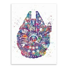 Star Wars canvas picture Print hanging poster Wall children room decor