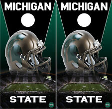 Michigan State Custom Cornhole Vinyl Wraps Boards Decals Bag Toss Game Stickers