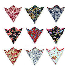 Cotton Party Men Pocket Paisley Floral Square Hankie Handkerchief