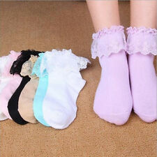 Lace New  Ruffle Ankle Socks Princess Girl Hot Fashion Sweet Women Frilly Cute