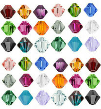 100Pcs Czech Crystal Glass Bicone Loose Spacer Beads Jewelery Finding 4mm DIY