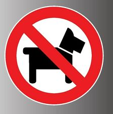 Prohibited No pets dog allowed sign - sticker decal cling magnet inside window