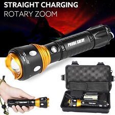 Super Bright 6000 LM XM-L T6 LED Adjustable Focus Zoomable Flashlight Torch Set