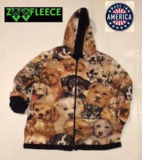 New Winter Fleece Golden Dogs Pupppy Kids Boys Girls Jacket Hood Coat Reversible