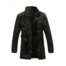 JOOBOX Men's Waterproof Lambskin Leather Jacket Slim fit Biker Motorcycle Coat