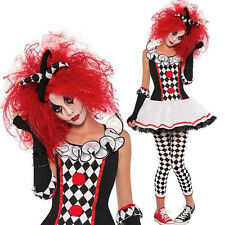 Sexy Clown Costume Adult Women lady Harley Quinn Harlequin Halloween Fancy Dress