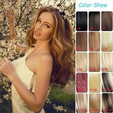 UK Mega Thick Full Head Clip in Hair Extensions Ombre Dip Dye As Human 18 Clips
