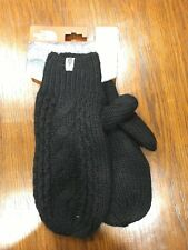 The North Face Womens Cable Knit Mitt New with Tags TNF Black Large/XL