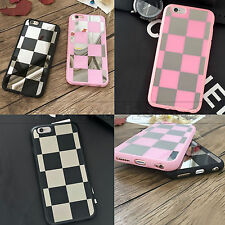 CHECKER MIRROR REFLECTIVE BACK SOFT COVER CASE FOR IPHONE 7 6S 6 & PLUS