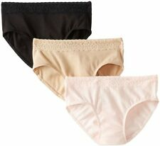 Hanes 41KLB Womens Ultimate Cotton Stretch W/ Lace Hipster PantyLight