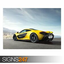 MCLAREN P1 SUPERCAR (AA261) CAR POSTER - Photo Picture Poster Print Art A0 to A4