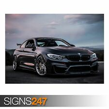 BMW M4 COUPE (AA240) CAR POSTER - Photo Picture Poster Print Art A0 A1 A2 A3 A4