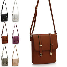 Ladies Faux Leather Messenger Women Girl Across Cross Body Vintage Shopper Bag