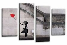 XXL Banksy Box Canvas Prints Balloon Girl Picture Wall Art Multi Various colours