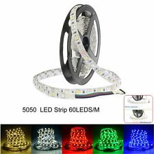 5M 5050 300leds SMD RGB/White LED Strip Flexible Lights Xmas Tape Lamp for Decor