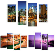 4 Pcs Frameless Painting Pictures Freehand Sketching Room Art Decor Newest