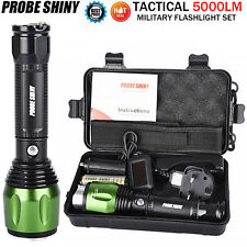 G700 X800 5000 Lumen CREE XML T6 LED Zoom Tactical Military Flashlight Torch Set