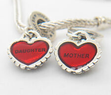 Authentic S925 Silver Piece of My Heart Daughter Mother Red Enamel Charm