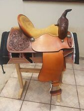 NEW WESTERN HORSE BARREL SADDLE RACING LEATHER PLEASURE TRAIL SHOW WITH TACK SET