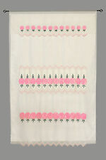 Pink Floral  Embroidery Satin Sheer Layer Panel Window Treatment Curtain 60x90""