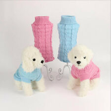 Pet Dog Puppy Cat Warm Sweater Clothes Knit Coat Winter Apparel Costumes ON