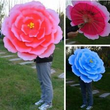 1pc 3D Silk Flower Dance Umbrella Peony Floral Parasol Perform Cosplay Party Hot