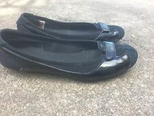 PUMA Size 9 Black PATENT LEATHER BALLERINA FLATS  SHOES