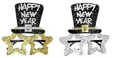 Silver/Gold Black Happy New Year Glasses Shades for Christmas Party Fancy Dress