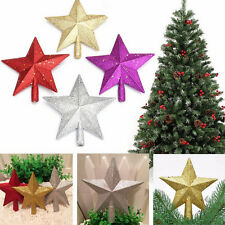 Sparkle 3D Star Design Christmas Tree Top Topper Decoration JS