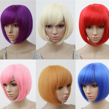 Vogue Women Sexy BOBO Head Style Short Straight Full Wigs Cosplay Party Costume