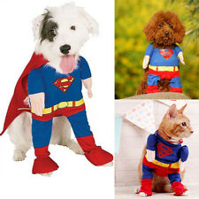 Pet Dog Puppy Cat Superman Clothes Halloween Apparel Costumes Cute FancyJumpsuit