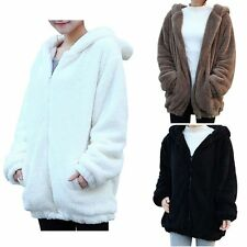 Sweet Coat Womens Tops Fashion Bear Ear Hoodie Hooded Jacket Warm Outerwear UK
