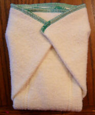 New Hemp Organic Cotton Fleece Prefold (11 x 14) cloth diapers Emerald Trim