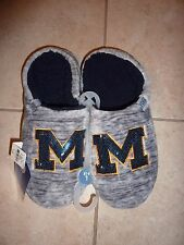 VICTORIAS SECRET PINK BLING MICHIGAN UNIVERSITY OF MICHIGAN MARLED SLIPPERS NWT