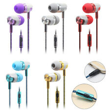 Braided 3.5mm Earphones In Ear Exercise Headphones Bass W/Mic For Xiaomi MIX Lot