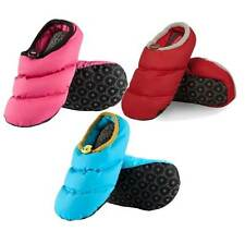 Ladies Cosy Puffa Style Quilted Duck Down Slippers Size 3-4 In 3 Various Colours