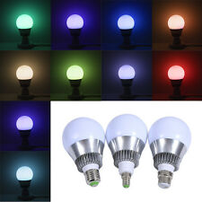 New 3W/10W E27/E14/B22 Color Change LED RGB Ceiling Lamp Bulb+Remote Control Hot