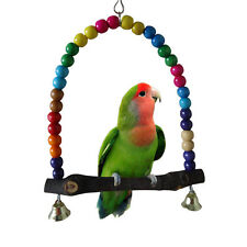 Colorful Bird Toy Parrot Swing Cage Toy Cockatiel Budgie Birds Parrots Swings