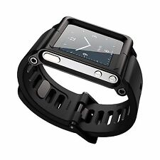 Aluminum Case Silicon Belt Multi-Touch Watch Band WristStrap For iPod Nano 6/6th