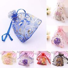 25/50/100 Candy Drawstring Strong Organza Jewelry Wedding Party Gift Pouch Bags