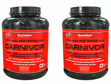 Carnivor, MuscleMeds, Beef Protein powder, 2 Bottles of 4 Lbs. Each