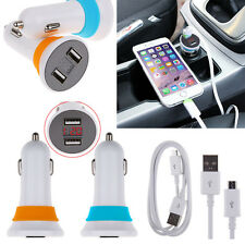 Universal Dual USB Car Charger Voltage Tester&Micro USB Cable For Phones Tablets