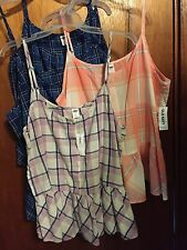 Old Navy Plaid Peplum Top . Different colors and sizes all new with tags