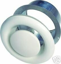 "8"" 200mm White Metal Air Valves for Extractor Fans, Ducting, Ceiling Grille Vent"