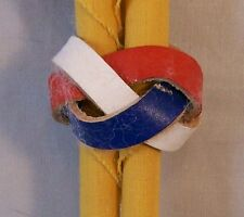"Boy Scout Neckerchief Slide  ""Red, White & Blue""  Used"