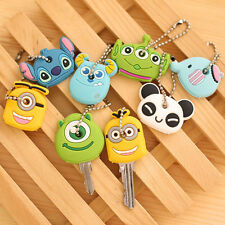 Kawaii Cartoon Animal Silicone Key Caps Covers Keys Keychain Case Shell Novelty