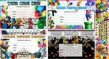 HD Personalised With Your Name Designed Birthday Invitations - FREE ENVELOPES