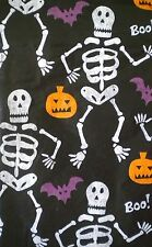 New Vinyl Tablecloth flannel back Halloween Skeleton Theme Round Square Oblong