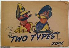 """CYRIL JAMES: THE """"TWO TYPES"""" BY JON 1st PB UK 1945"""