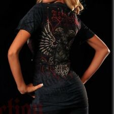 Affliction GLOW Womens V-Neck Top S Small NWT NEW T-Shirt
